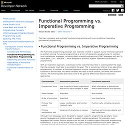 Functional Programming vs. Imperative Programming