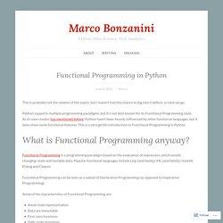 Functional Programming in Python – Marco Bonzanini