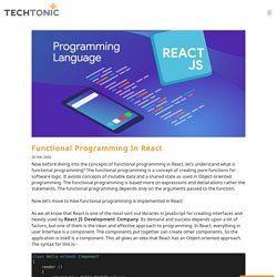 Functional Programming In React