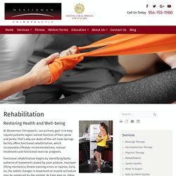 Highly-Trained Functional Rehabilitation Experts in Coral Springs