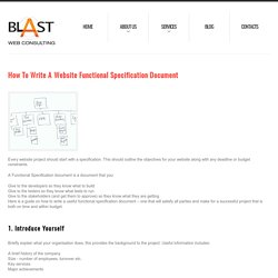 How to Write a Website Functional Specification Document