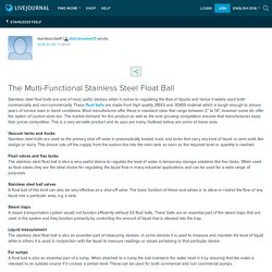 The Multi-Functional Stainless Steel Float Ball: stainlesssteelf