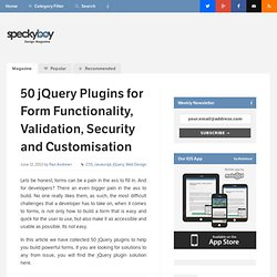 50 jQuery Plugins for Form Functionality, Validation, Security and Customisation :Speckyboy Design Magazine