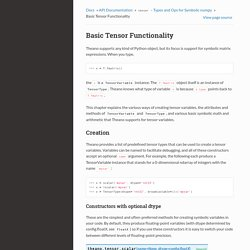 Basic Tensor Functionality — Theano 0.8.2 documentation