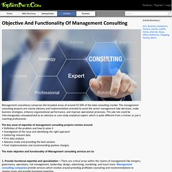 Objective And Functionality Of Management Consulting