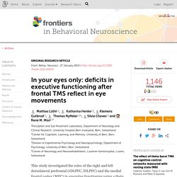 In your eyes only: deficits in executive functioning after frontal TMS reflect in eye movements