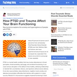 How PTSD and Trauma Affect Your Brain Functioning