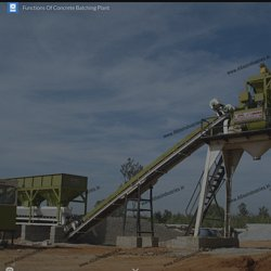 Functions Of Concrete Batching Plant