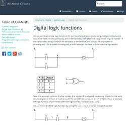 Digital logic functions : Ladder Logic - Electronics Textbook