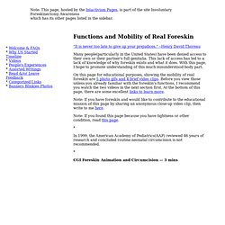 Functions and Mobility of Real Foreskin