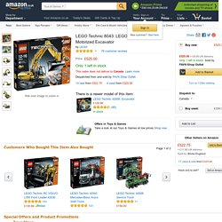 LEGO Technic 8043: LEGO Power Functions Motorized Excavator: Amazon.co.uk: Toys & Games