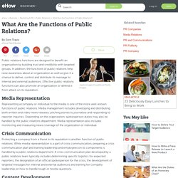 What Are the Functions of Public Relations?