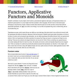Functors, Applicative Functors and Monoids - Learn You a Haskell for Great Good!
