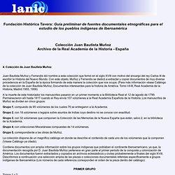 LANIC-Fundación Tavera : Colección Juan Bautista Muñoz Archivo de la Real Academia de la Historia - España