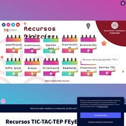 Recursos TIC-TAC-TEP FEyE by Fundación Educación y Evangelio on Genially