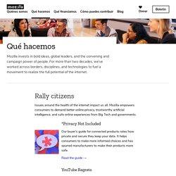 Fundación Mozilla - Qué hacemos
