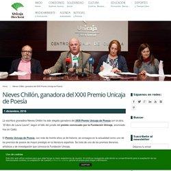Obra Social Unicaja » Fundación UnicajaNieves Chillón, ganadora del XXXI Premio Unicaja de Poesía - Obra Social Unicaja