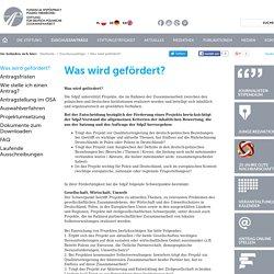 Fundacja Współpracy Polsko-Niemieckiej - Was wird gefördert?