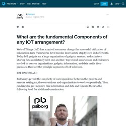 What are the fundamental Components of any IOT arrangement?