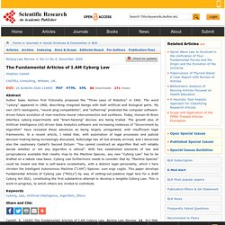 The Fundamental Articles of I.AM Cyborg Law