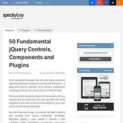 50 Fundamental jQuery Controls, Components and Plugins :Speckyboy Design Magazine