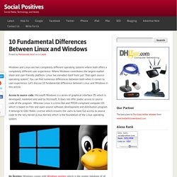 10 Fundamental Differences Between Linux and Windows - Social Positives