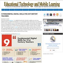 Educational Technology and Mobile Learning: 9 Fundamental Digital Skills for 21st Century Teachers