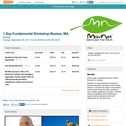 1 Day Fundamental Workshop-Boston, MA - Movnat- Eventbrite