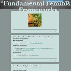 Fundamental Feminist Frameworks