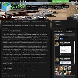 A Fundamental End To Poverty. « 4 Walls International