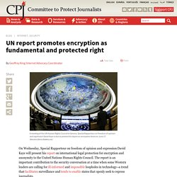 UN report promotes encryption as fundamental and protected right