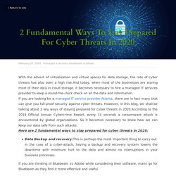 2 Fundamental Ways To Stay Prepared For Cyber Threats In 2020