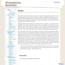 Fundamental Statistics