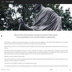 7 enseñanzas fundamentales que Gandhi nos dejó