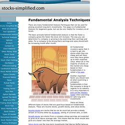 Fundamental Analysis Techniques