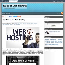 Basic Types Of Web Hosting
