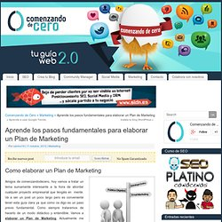Aprende los pasos fundamentales para Elaborar un Plan de Marketing
