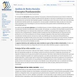 Análisis de Redes Sociales/Conceptos Fundamentales