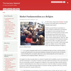 Market Fundamentalism as a Religion