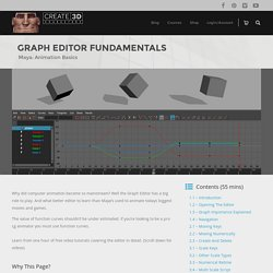 Maya: Animation Graph Editor Fundamentals