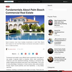 Fundamentals About Palm Beach Commercial Real Estate