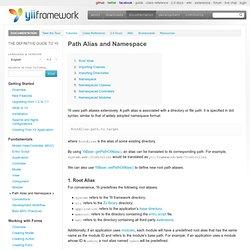 Fundamentals: Path Alias and Namespace
