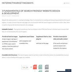 3 Fundamentals of Search Friendly Website Design & Development