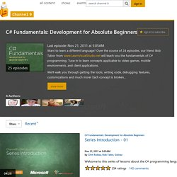 C# Fundamentals: Development for Absolute Beginners