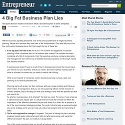 Four Big Fat Business Plan Lies – Business Plan Fundamentals – Entrepreneur.com