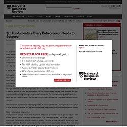 Six Fundamentals Every Entrepreneur Needs to Succeed - Bob Diener