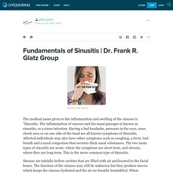 Get The Deep Knowledge Of Fundamentals Of Sinusitis.
