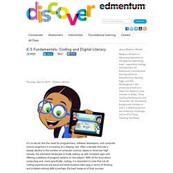 K-5 Fundamentals: Coding and Digital Literacy