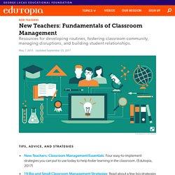 New Teachers: Classroom-Management Fundamentals