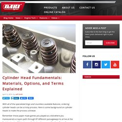 Cylinder Head Fundamentals: Materials, Options, and Terms Explained